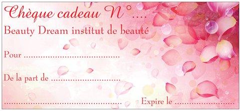 Chèques cadeaux d'institut de beauté Beauty Dream St genis laval proche de Brignais
